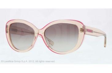 DKNY DY4107 Sunglasses 360411-56 - Transparent Beige Frame, grey gradientt Lenses