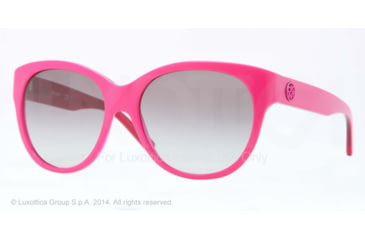 DKNY DY4113 Single Vision Prescription Sunglasses DY4113-363511-57 - Lens Diameter 57 mm, Frame Color Top Fuxia On Transp Fuxia