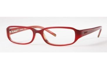 DKNY Eyeglass Frames DY4550-3019-5216 with Rx Prescription Lenses 52 mm Lense Diameter / Top Red On Transparent Frame