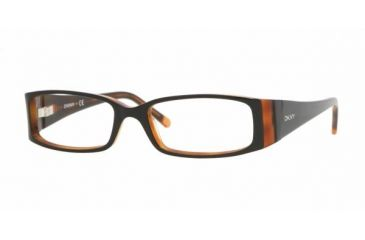 DKNY DY4599 #3248 - Top Black Orange Frame, Demo Lens Lenses