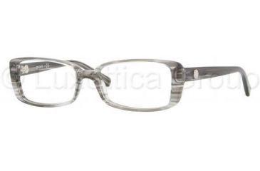DKNY DY4623 Single Vision Prescription Eyeglasses 3449-5216 - Striped Gray Demo Lens Frame