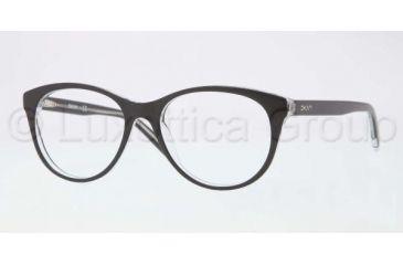 DKNY DY4637 Bifocal Prescription Eyeglasses 3131-5117 - Black Top on Transparent Frame, Demo Lens Lenses