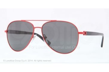 DKNY DY5078 Sunglasses 105687-58 - Red Frame, Gray Lenses
