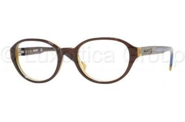DKNY DY 4568 Eyeglasses, Top Brown On Honey Frame w/NonRx 46 mm Diameter Lenses, 3021 4618