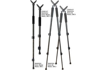 """Do All Outdoors 38"""" Dead-On 360 quick Compact Shooting Stick, Mono DOC3"""