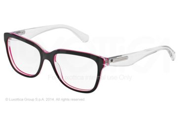 Dolce&Gabbana 3 LAYERS DG3193 Progressive Prescription Eyeglasses 2794-52 - Black/pearl Fuxia/cryst Frame