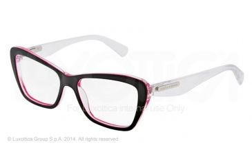 Dolce&Gabbana 3 LAYERS DG3194 Bifocal Prescription Eyeglasses 2794-52 - Black/pearl Fuxia/cryst Frame