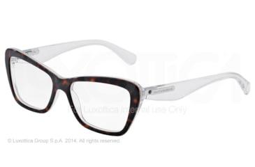 Dolce&Gabbana 3 LAYERS DG3194 Single Vision Prescription Eyeglasses 2795-52 - Havana/pearl White/cryst Frame