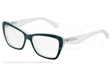 Dolce&Gabbana 3 LAYERS DG3194 Bifocal Prescription Eyeglasses 2799-52 - Petroleum/pearl White/cryst Frame