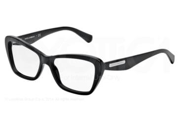 Dolce&Gabbana 3 LAYERS DG3194 Single Vision Prescription Eyeglasses 501-52 - Black Frame