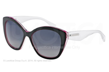 Dolce&Gabbana 3 LAYERS DG4220 Single Vision Prescription Sunglasses DG4220-2794T3-55 - Lens Diameter 55 mm, Frame Color Black/pearl Fuxia/cryst