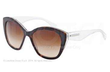 Dolce&Gabbana 3 LAYERS DG4220 Single Vision Prescription Sunglasses DG4220-279513-55 - Lens Diameter 55 mm, Frame Color Havana/pearl White/cyryst