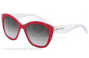 Dolce&Gabbana 3 LAYERS DG4220 Single Vision Prescription Sunglasses DG4220-27988G-55 - Lens Diameter 55 mm, Frame Color Red/white Pearl/cryst