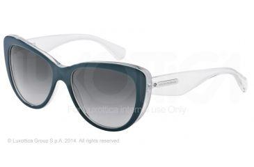 Dolce&Gabbana 3 LAYERS DG4221 Sunglasses 27998G-55 - Petroleum/white Pearl/cryst Frame, Grey Gradient Lenses