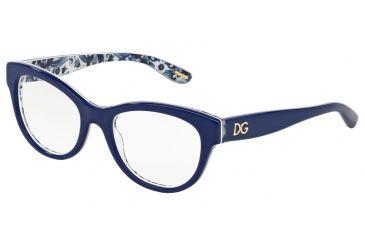 fdfad80ee842e Dolce Gabbana ALMOND FLOWERS DG3203 Eyeglass Frames 2992-51 -  Blue maioliche Partenopee Frame