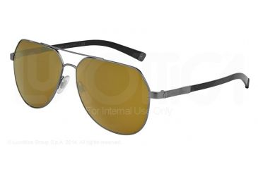 Dolce&Gabbana BASALTO DG2133 Single Vision Prescription Sunglasses DG2133-04-73-60 - Lens Diameter 60 mm, Frame Color Gunmetal Sand