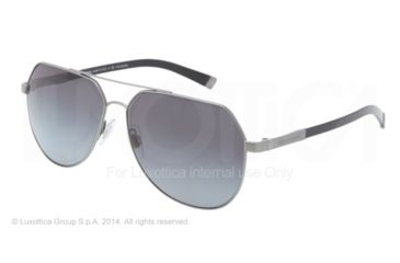 Dolce&Gabbana BASALTO DG2133 Single Vision Prescription Sunglasses DG2133-1108T3-60 - Lens Diameter 60 mm, Frame Color Sand Gunmetal/shiny