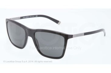 Dolce&Gabbana BASALTO DG4210 Single Vision Prescription Sunglasses DG4210-501-87-55 - Lens Diameter 55 mm, Frame Color Black