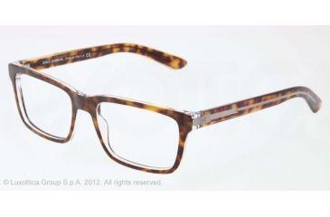 Dolce&Gabbana BLOCK HINGE DG3157 Progressive Prescription Eyeglasses 556-53 - Top Havana On Crystal Frame, Demo Lens Lenses
