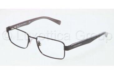 Dolce&Gabbana CONTRAST DG1238P Single Vision Prescription Eyeglasses 1169-5217 - Black Frame, Demo Lens Lenses