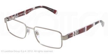 Dolce&Gabbana CONTRAST DG1238P Prescription Eyeglasses 1236-52 - Matte Gunmetal Frame