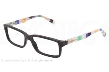 Dolce&Gabbana CONTRAST DG3148P Single Vision Prescription Eyeglasses 2756-53 - Matte Black Frame