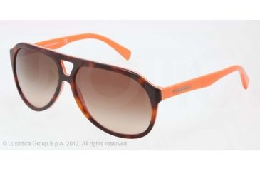 8d7f4a67083c Dolce Gabbana CONTRAST DG4169P Sunglasses 270713-61 - Top Havana On Orange  Frame