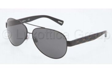 Dolce&Gabbana D&G ALL OVER DG2118P Single Vision Prescription Sunglasses DG2118P-119587-6012 - Frame Color Black, Lens Diameter 60 mm