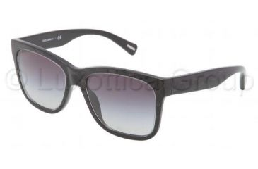 Dolce&Gabbana D&G ALL OVER DG4158P Progressive Prescription Sunglasses DG4158P-26598G-5517 - Lens Diameter 55 mm, Frame Color Black / Gray
