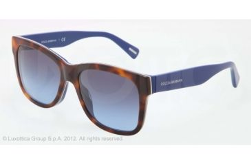 Dolce&Gabbana D&G ALL OVER DG4158P Progressive Prescription Sunglasses DG4158P-27068F-55 - Lens Diameter 55 mm, Lens Diameter 55 mm, Frame Color Top Havana on Blue