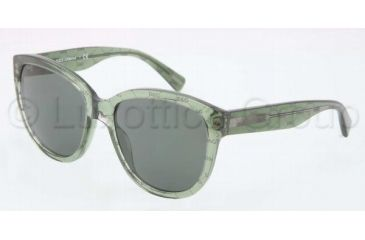 Dolce&Gabbana D&G ALL OVER DG4159P Progressive Prescription Sunglasses DG4159P-266271-5618 - Lens Diameter 56 mm, Frame Color Gray/Green