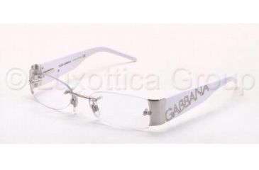 Dolce&Gabbana DG1102 SV Prescription Eyeglasses - 062 Silver Frame / 51 mm Prescription Lenses, 062-5116