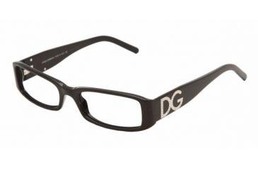 Dolce&Gabbana DG 3044B Eyeglasses Styles - Shiny Black Frame w/Non-Rx 50 mm Diameter Lenses, 501-5017