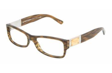 Dolce&Gabbana DG 3094 Eyeglasses Styles - Barbed Honey Frame w/Non-Rx 52 mm Diameter Lenses, 1726-5216