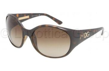 Dolce&Gabbana DG6060 Single Vision Prescription Sunglasses DG6060-502-13-6018 - Frame Color Havana, Lens Diameter 60 mm