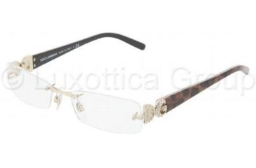 Dolce&Gabbana DG1158B Single Vision Prescription Eyewear 1055-5316 - Pale Gold