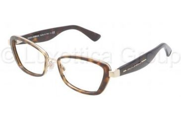 Dolce&Gabbana DG1225 Single Vision Prescription Eyeglasses 02-5117 - Gold Frame