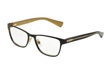 650ecbf7a66 Dolce Gabbana DG1273 Bifocal Prescription Eyeglasses 1268-53 - Top Black On Gold  Frame