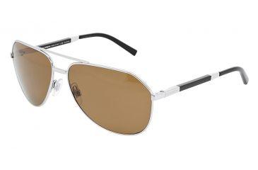 Dolce&Gabbana DG2073K Sunglasses 102857-6114 - Silver Crystal Brown Polarized