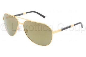 Dolce&Gabbana DG2073K Sunglasses 440/39-6114 - Yellow Gold Crystal Gold Mirror