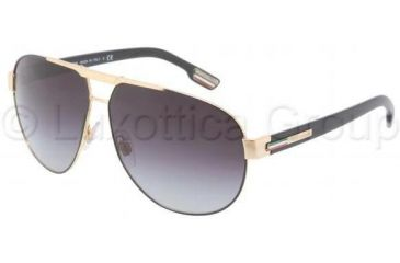 Dolce&Gabbana GYM DG2099 Single Vision Prescription Sunglasses DG2099-10818G-6111 - Lens Diameter 61 mm, Frame Color Gold / Black