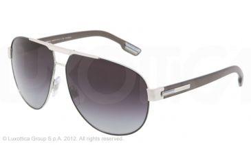 Dolce&Gabbana GYM DG2099 Single Vision Prescription Sunglasses DG2099-1083T3-61 - Lens Diameter 61 mm, Lens Diameter 61 mm, Frame Color Silver/gray