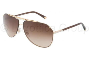 Dolce&Gabbana DG2102 Sunglasses 034/13-6412 - Gold Frame, Brown Gradient Lenses