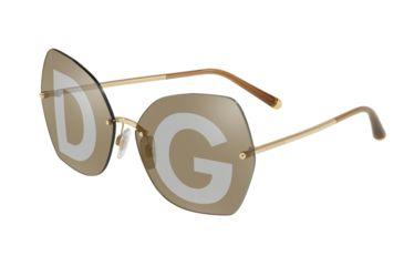 f2cbe78fe Dolce&Gabbana DG2204 Sunglasses 02/04-64 - Men's, Gold Frame, Grey Tampo