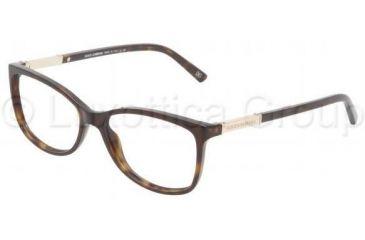 Dolce&Gabbana DG3107 Progressive Prescription Eyeglasses 502-5215 - Havana