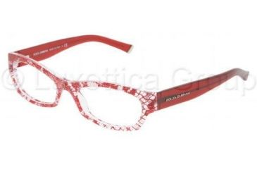 Dolce&Gabbana DG3115 Bifocal Prescription Eyeglasses 1897-5117 - Red Lace