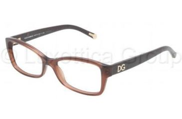 Dolce&Gabbana DG3119 Single Vision Prescription Eyeglasses 2542-5416 - Transparent Brown Frame