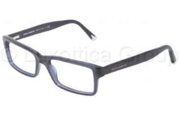 Dolce&Gabbana DG3123 Single Vision Prescription Eyeglasses 1850-5217 - Transparent Blue Demo Lens Frame
