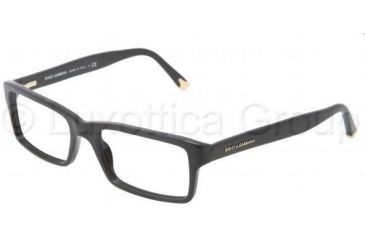 Dolce&Gabbana DG3123 Single Vision Prescription Eyeglasses 501-5417 - Black Frame