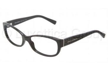 Dolce&Gabbana DG3125 Progressive Prescription Eyeglasses 501-5316 - Black Frame